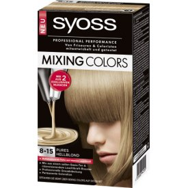 Syoss Dauerhafte Haarfabe Coloration Mixing Colors 8-15 Champagner-Hellblond-Twist