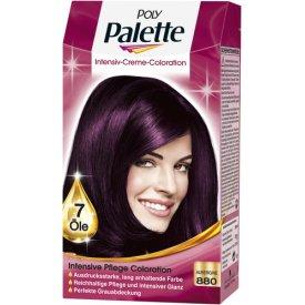 poly palette dauerhafte haarfarbe intensive creme coloration aubergine 880 1 st ck. Black Bedroom Furniture Sets. Home Design Ideas